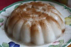 Tembleque! Coconuty, melt in your mouth Holiday goodness! This is a very simple recipe that works! Feliz Navidad!