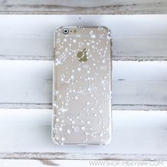 Clear Plastic Case Cover for iPhone 5 5S - (Henna) Constellation from milkyway