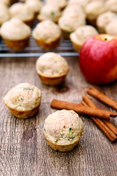 Zucchini Apple Mini Muffins. #recipe #snack #schoollunch