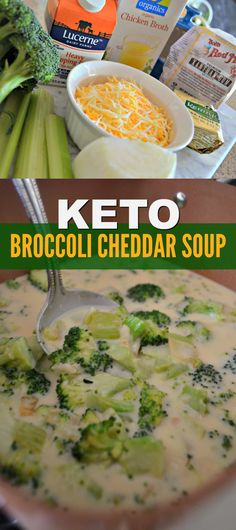 You'll be enjoying a comforting bowl of Cheddar Broccoli Soup in no time with this EASY to make Keto recipe.