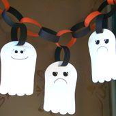 FREE printable halloween ghost garland for kids