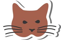 Angry Brown Cat Sticker