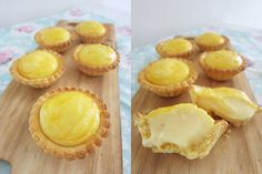 We've seen food trends come and go in Singapore, but rarely has a food item been so popular that it spawns dozens of spin-offs, even before its actual launch. Custard Recipes, Pastry Recipes, Tart Recipes, Dessert Recipes, Desserts, Bake Cheese Tart, Cheese Pastry, Cheese Tarts, Hokkaido Cheese Tart Recipe