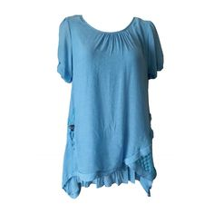 Quelque Long Blue Tunic