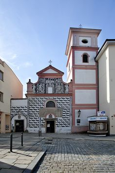 Town Hall in Písek from the century is currently the seat of the town's administration. Elevation of the Holy Cross monastery church Beautiful Places In The World, Beautiful Scenery, Prague, Holy Cross, Town Hall, Cathedrals, Czech Republic, 18th Century, Castles