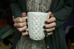Cable knit mug!
