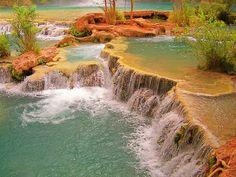 "Havasu Creek Falls. Jessica's label says it all ""peace"""