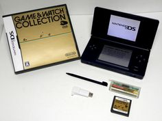 Nintendo DS Lite USG-001 + Game & Watch Collection + Memory Expansion Pak #Nintendo