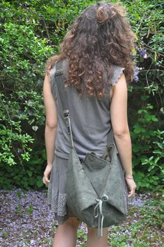 Hobo across body bag in stonewashed canvas with by iyiamihandbags