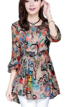 Latest Summer Fashion Trends, Looks & Ideas For Women 2015 Latest Summer Fashion, Summer Fashion Trends, Casual Tops For Women, Blouses For Women, Women's Casual, Floral Chiffon Dress, Print Chiffon, Casual Dresses, Fashion Dresses