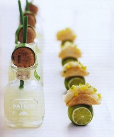 Mini margaritas in airline size Petron bottles-LOVE!