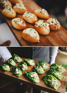 How cute are those finger size appetizers!