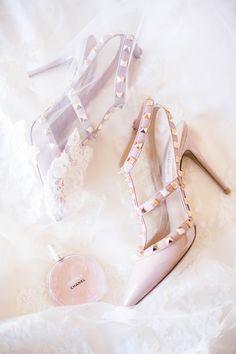 Studded blush heels | Photography: Sally Pinera - sallypinera.com