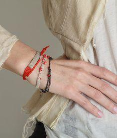 Boho Braided Bracelet, anniversary Jewelry, Bridal accessory, Silver/Gold & Cotton threads bracelet.
