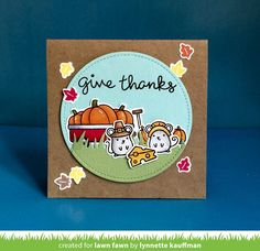 the Lawn Fawn blog: Lawn Fawn Intro: Thankful Mice, Small Stitched Leaves