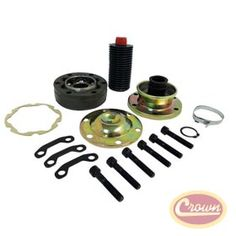 CV Joint Repair Kit. Replaces Part #: 528534RRK. Fits: Jeep Grand Cherokee (WK) (2005-2010); WK (US) model. Jeep Grand Cherokee (WH) (2006-2010); WH (Europe) model. Jeep Commander (XK) (2006-2010). Dodge Durango (DN) (2001-2003). Dodge Durango (HB) (2004-2006). Dodge Dakota (AN) (2001-2004). Dodge Dakota (ND) (2005-2006). Dodge Raider (NM) (2001-2004).   Front propeller shaft; Transfer case end; Includes Boot, Inner and Outer Caps, CV Joint, Clamps, Snap Ring, Bolts and Grease.