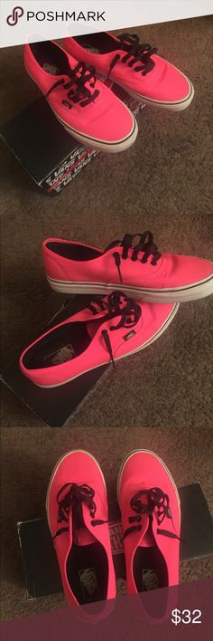 Pink Vans Worn once or twice, great condition, bright pink Vans Shoes Sneakers