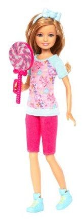 Barbie Sisters Amusement Park Stacie Doll by Mattel. $14.99. Stacie has her own signature fashion and style. Includes dolls and amusement park-themed accessory. Stacie doll loves to eat cotton candy. A must have in every girls Barbie collection. It?s a fun filled day in the amusement park for Stacie. From the Manufacturer                Barbie Sisters Amusement Park Collection: Skipper and Stacie both agree that a day at the amusement park becomes much more amu...