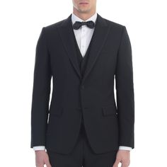 Dolce&Gabbana. Black wool and silk three pieces suit. Made In Italy.