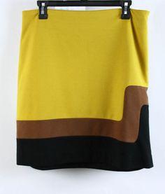 Ann Taylor LOFT Colorblock Mod Above The Knee Pencil Skirt 8 #AnnTaylorLOFT #StraightPencil #Casual