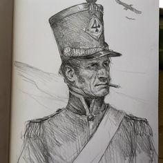 Art of Karl Kopinski - Napoleonic guy sketch