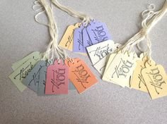 Handmade everyday favor Thank You tags for by ilPiccoloGiardino