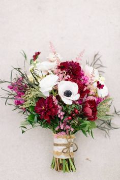 Bridal bouquet from Clementine floral designs. Burgundy,wine, white, and blush pink for a fall November wedding.