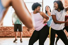 Cheerful active women in a dance class - Buy this stock photo and explore similar images at Adobe Stock Fitness Photography, Dance Photography, People Photography, Cardio Barre, Cardio Workout At Home, Workouts, Pilates Studio, Pilates Reformer, Fit Women