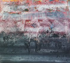 Abstract Painting [895-8] by Gerhard Richter.  2006 47.5cm x52.5cm. Oil on canvas.