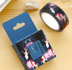 10m Koi Washi Tape Koi Fish and Water Flowers por WILDSOUL19