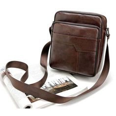 100% Genuine Leather Men  Vintage Cowhide Crossbody Bags For Man Bolso Hombre Mens Bags