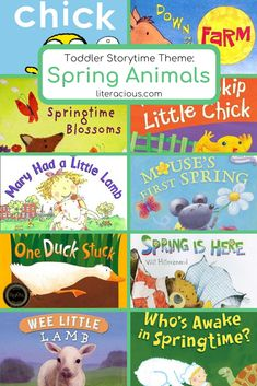 Toddler Storytime Theme: Spring Animals is filled with the adorable animals of spring! Perfect for storytime or reading at home with the family! Toddler Storytime, One Duck, Spring Animals, Spring Books, Reading At Home, Animal Books, Spring Activities, Early Literacy, Spring Is Here