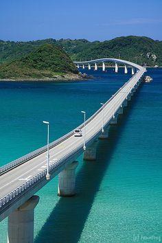 Tsunoshima Bridge, Yamaguchi, Japan