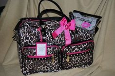 Betsy Johnson leopard print diaper bag  WANT!!!