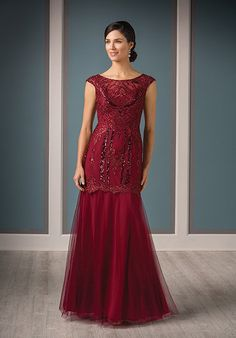 Jade Couture K188014 Red Mother Of The Bride Dress