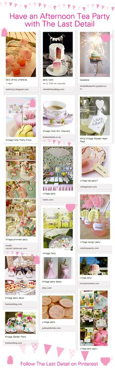 Ideas for an Afternoon Tea Party from The Last Detail | | The Last Detail blogThe Last Detail blog