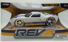 Ford GT White Sports Car Rev Rollers Friction Power 1:20  New in box #RevRollers #Ford