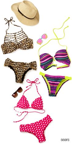 76bdd3f7f0ce7 Let your sunny spirit soar in these juniors' swimsuits at Sears. For a fun