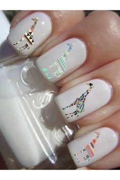nail polish white essie giraffe hologram hologramme mirror nails sticker nails stickers nails