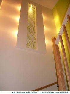 Újpesti lépcsőház gipszkartonozási munkálatok után Wall Lights, Lighting, Garden, House, Home Decor, Appliques, Garten, Decoration Home, Home