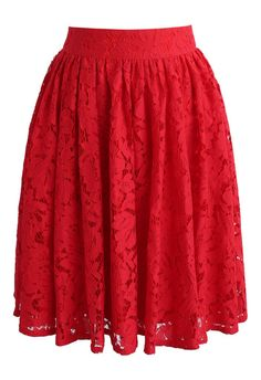 Daydreamer Whole Lace Skirt in Red - New Arrivals - Retro, Indie and Unique Fashion