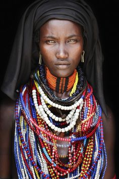 "Beautiful Blackness - African • a different view of Africa that is usually seen as ravaged by poverty/famine/war...it's rich in natural beauty...photo  ""Baro Tura, Arbore Tribe, Ethiopia"" by  Mario Gerth 2012-11 via flickr 8453831258"