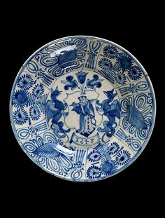 Dish Place of origin: Portugal (made) Lisbon (city), Portugal (made) Date: 1648 (dated) Artist/Maker: unknown (production) Materials and Techniques: Tin-glazed earthenware Museum number: Glazes For Pottery, Ceramic Pottery, Glazed Pottery, Ceramic Plates, Ceramic Art, Hand Painted Plates, Blue And White China, Pottery Designs, Victoria And Albert Museum