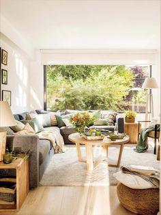 Rustic contemporary house in Madrid gets luminous transformation #contemporarylivingroomdecorideas