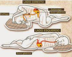 Dormir sobre o lado esquerdo ajuda a melhorar a digestão