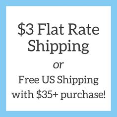 Beginning today — $3 flat rate shipping or free shipping on orders of $35+! 📦💌📬 Flat Rate, Clothes Line, Free Shipping, Instagram