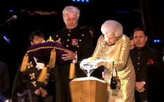 Queen's Diamond Jubilee BBC Concert - the Queen lighting the National Beacon with the Jubilee Diamond - Monday 4th June 2012