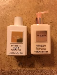 Victoria's Secret perfumed lotion. 1 Bombshell nights and 1 Bombshell seduction. Both unopened. Beauty Tips For Glowing Skin, Beauty Skin, Parfum Victoria's Secret, Fragrance Lotion, Victoria Secret Perfume, Healthy Skin Care, Body Lotions, Body Spray, Smell Good