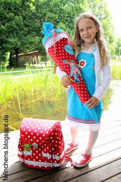 Eine Pippi Langstrumpf Schultüte sollte es werden, was auch sonst ;-).  Abgestimmt habe ich diese auf den Schulranzen und Schuhen. Ich find...