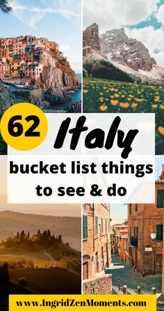 The ultimate Italy Bucket list destinations guide you will love! Start planning your Italy trip with these Italy hidden gem destinations. Places you haven't heard of but will want to book in advance! Where to go in Italy, what to see in Italy, Italy destinations. European Travel Tips, Italy Travel Tips, Europe Travel Guide, Travel Guides, Travel Advice, Budget Travel, Italy Destinations, Holiday Destinations, Things To Do In Italy